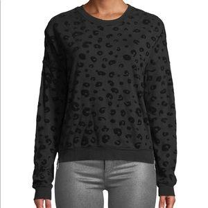 Rails Marlo Flocked Leopard Print Pullover Size XS